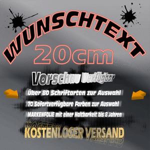 Wunschtext Aufkleber  >20cm<  Schriftzug  Auto Heckscheibe Firma LKW Vorschau