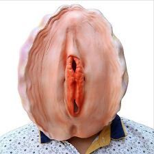 Realistic Vagina Shell Head Latex Mask Full Head Costume Gag Party Fancy Hot