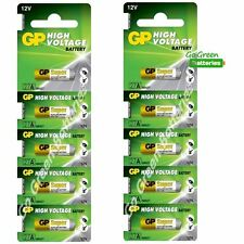 10 x GP A27 MN27 12V Alkaline Batteries 27 27A GP27A V27A E27A EL812 Garage Gate