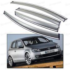 Window Visor Vent Shade Rain/Sun Guard for 2009-2012 10 11 Volkswagen Golf MK6