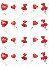 20 Nail Decals VALENTINE HEART BALLOONS Water Slide Nail Art Decals Nail Art