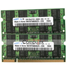 "4GB (2x2GB) PC2-5300 DDR2-667 200pin Memory For Apple MacBook 13"" MacBook A1181"