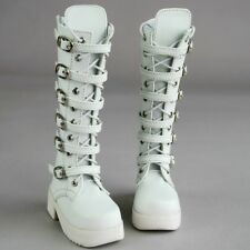 [PF] 16# White Synthetic Leather Boots/Shoes For 1/4 MSD AOD DOD DZ BJD Doll