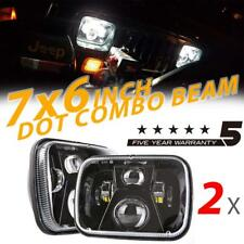 "2x 150W 7x6"" 5X7"" LED Headlight Black Sealed Bright Beam for Jeep Cherokee XJ YJ"