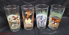 Vintage Irving Oil of Canada 1986 & 87 Promo Wildlife Drinking Glasses Set of 4
