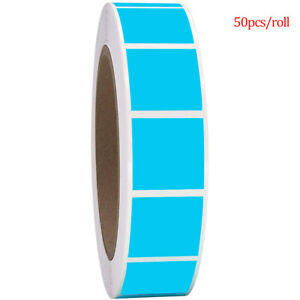 500Pcs/Roll Square Chroma Labels Stickers Color Code Dot Labels Stickers 1Inch+