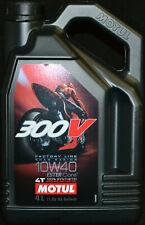 4Liter 10W40 Motul 300V Road Racing 4T Factory Line Rennsport 10W-40 Öl Motorrad