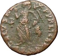 Theodosius I the Great Ancient Roman Coin Victory Chi-Rho Christ Monogr  i27918
