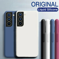 For Samsung Galaxy S21 Ultra S20 FE A21S Shockproof Liquid Silicone Case Cover