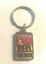 """Nwot Fun Metal Key Chain """"I've Been To Hell and Back"""" Red Black Gold + Demon"""