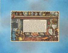 VINTAGE PRINT COLONIAL COOKING HEARTH CRANBERRY ORANGE JELLY CONSERVE COLLAGE