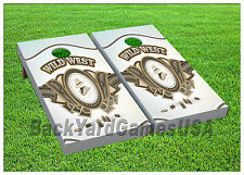VINYL WRAPS Cornhole Boards DECALS Wild West BagToss Game Stickers 594