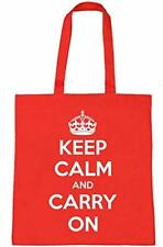 REUSABLE Shopping Bag Multi Purpose Toy Laundry KEEP CALM AND CARRY ON Strong