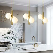 Kitchen Pendant Light Glass Lamp Gold Chandelier Lighting Bedroom Ceiling Lights