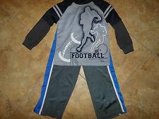 Boy's Football Navy Blue & Gray Athletic Top & Pants Set Size 4-NWOT