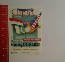 Aufkleber/Sticker: Panasonic Cup 93 Hamburg (051016153)