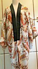Haori Vintage Handmade Traditional Japanese Thigh-length Kimono