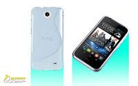 S CURVE Gel Case For HTC Desire 310 + Screen Guard TPU Jelly Soft Cover