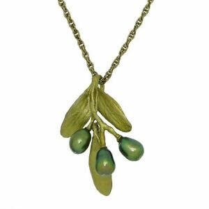 """Olive 16-18"""" Pendant Pearl Necklace by Michael Michaud 8148 Silver Seasons"""