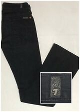 Sz 25 7 FOR ALL MANKIND Women's Bootcut Stretchy Black Denim Jeans Pants *(29x32
