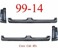 09 14 Crew Cab 4Pc Extended Rocker & Cab Corner Set, OEM Type, Ford F150 Truck