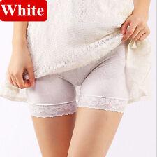 Women Elastic Safety Lace Ice Silk Under Shorts Pants Leggings Render Size 4-22