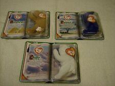TY Beanie Babies-McDonalds Set 2000 Legends Royal Blue Peanut, Chilly & Humphrey