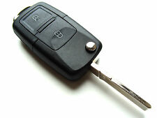 VW Golf Bora Jetta Passat 2 Button Flip Remote Key Fob Case - Blank HAA Blade