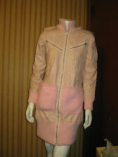 Charlotte Solnicki Couture Pink Leather Women's Coat Size XS/S