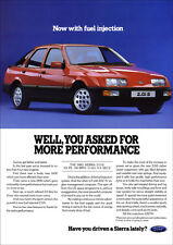FORD SIERRA 2.0iS RETRO A3 POSTER PRINT FROM CLASSIC 80'S ADVERT