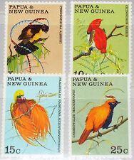 PAPUA NEUGUINEA NEW GUINEA 1970 175-78 301-04 Birds of Paradise Paradiesvögel **