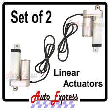 """2 Linear Actuators 2"""" Stroke 225 Pound Max Lift 12 Volt DC Heavy Duty Set"""