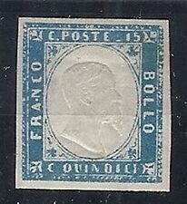 1863 REGNO EFFIGIE 15 CENT COBALTO LATTEO MH * - RR12616