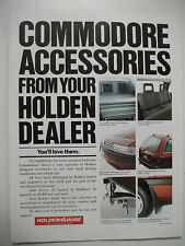 HOLDEN VN COMMODORE FACTORY ACCESSORIES FULLPAGE COLOUR MAGAZINE ADVERTISEMENT