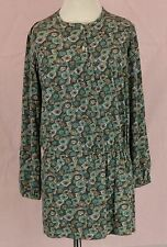 275 Papo d`Anjo (Oscar de la Renta girl tunic top dress multi-color floral EUC 5
