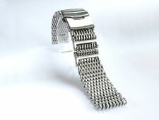 22mm SHARK MESH BRUSHED Stainless Steel, Heavy Duty, Diving, Dive Watch Strap
