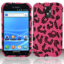 T-Mobile Samsung Galaxy S II 2 T989 Crystal BLING Hard Case Cover Pink Leopard
