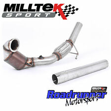 Milltek Downpipe Sports Cat Seat Ibiza Cupra 1.8 TFSi (6P) 2016 on Exhaust 2.76""