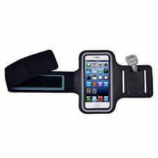 Running Jogging Workout Sport Gym Armband Case Cover Pouch For iPhone 5 5S Black
