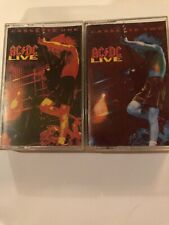 Vintage Cassette Lot-ACDC Live- Cassette's one and two