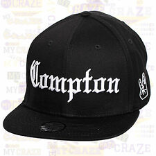 COMPTON TopCul West Side Hip Hop Black Snapback Cap
