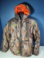 Reversible Camo/Hi Viz Orange Insulated Hunting Jacket Men's Large