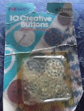 10 CREATIVE WOOL WEAVING BUTTONS, NEWEY, 22 mm FOR CARDIGANS, KNITTING, CROCHET