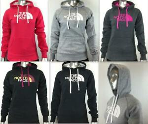 NEW WOMEN'S NORTH FACE HALF DOME HOODIE - NEW FIT CG9J PERFECT FLEECE PULLOVER