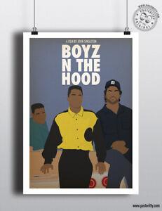 BOYZ N THE HOOD - Movie Poster Minimal Film Posteritty Art Print Ice Cube Cuba