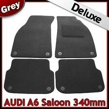 Audi A6 Saloon C6 2004-2011 340mm Tailored LUXURY 1300g Carpet Car Mats GREY