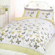 Mariposa Revoloteo Funda de almohada y Funda De Edredón Individual Juego Limón