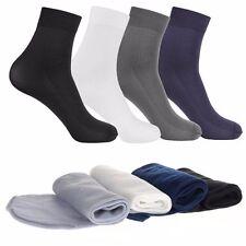 10 Pairs Men's Bamboo Fiber Socks Soft Elastic Thin Short Socks Middle Sock