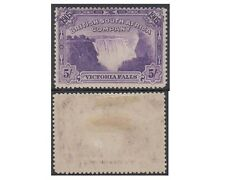 RHODESIA stamps 1905 Victoria falls 5 Shilling violet SG.99 MH - F324
