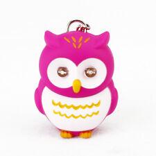 Cute LED 3D Cartoon Owl Keyring Flahlight Sound Hooting Key Finder Kid  Gifts